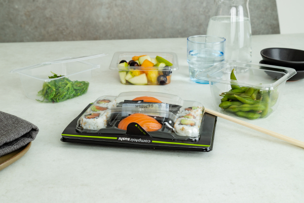 ANL Plastics Visiopaq packaging for sushi
